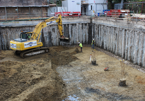 Burras basement construction london piling contractors for Building a basement foundation